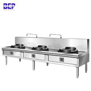 bếp á xào công nghiệp 3 bếp