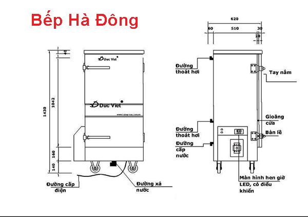Tủ cơm công nghiệp 20kg bằng điện