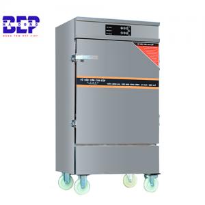 tủ nấu cơm công nghiệp 50kg 12 khay có điều khiển cảm ứng