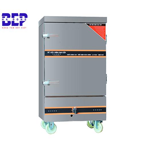 Tủ nấu cơm công nghiệp 40kg loại 12 khay bằng gas và điện