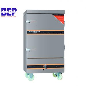 Tủ nấu cơm bằng điện và gas 12 khay 60kg chính hãng