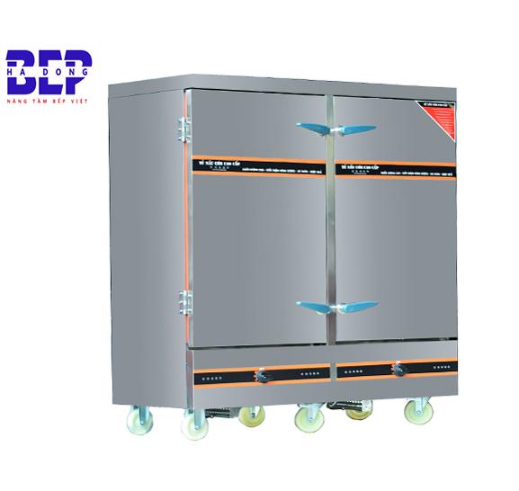 Bán tủ nấu cơm công nghiệp 24 khay bằng điện và gas 80kg