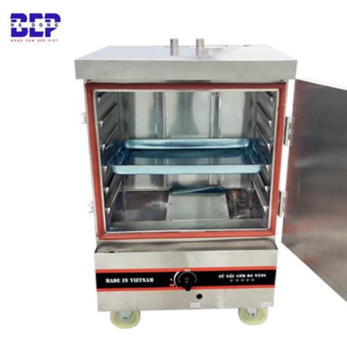 Tủ nấu cơm công nghiệp bằng gas 6 khay 20kg