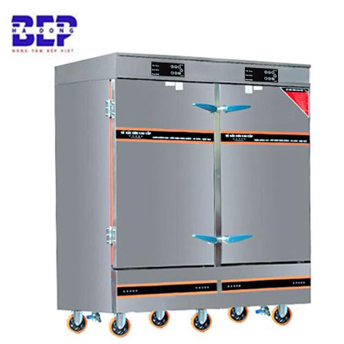 tủ nấu cơm công nghiệp có điều khiển cảm ứng 24 khay 100 kg