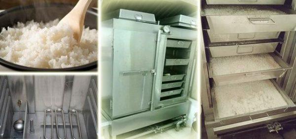 Giữ vệ sinh tủ cơm 50kg cũng giúp mang đến khay cơm ngon, dẻo.